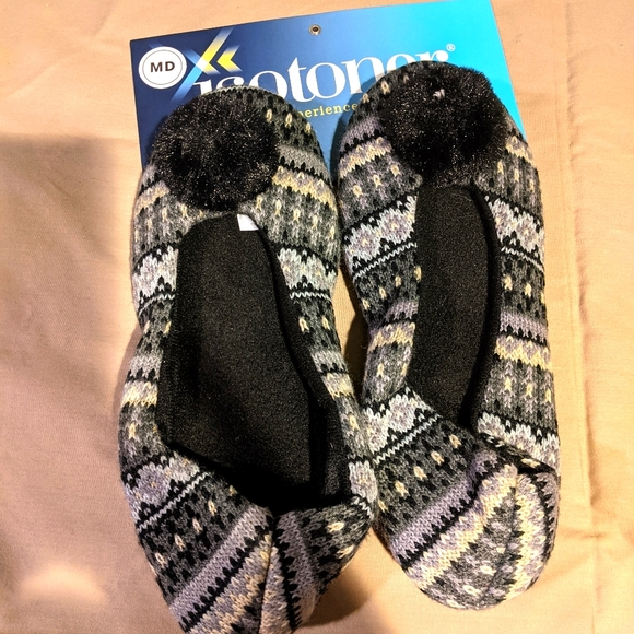 Isotoner Women's Knit Slippers